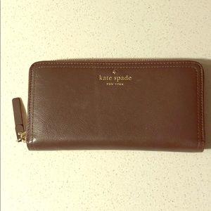 Kate spade wallet with polka dot interior